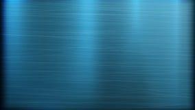 Fondo azul de la tecnología del extracto del metal Textura pulida, cepillada Chrome, plata, acero, aluminio Ilustración del vecto Foto de archivo