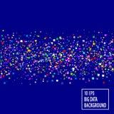 Fondo azul de la tecnología del extracto GRANDE de los DATOS Imagenes de archivo