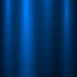 Fondo azul de la tecnología del metal Imagenes de archivo