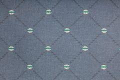 Fondo azul de la tela Foto de archivo