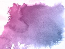 Fondo azul de la textura de la acuarela de la flor de Pinkand, planeta creativo hermoso ilustración del vector