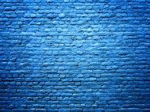 Fondo azul de la textura de la piedra de la pared de ladrillo para el diseño Fotos de archivo