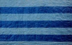 Fondo azul de la textura de la tira Fotografía de archivo libre de regalías