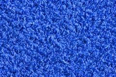 Fondo azul de la textura de la toalla Imagenes de archivo