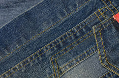 Fondo azul de la textura del dril de algodón de la mezclilla Fotografía de archivo libre de regalías