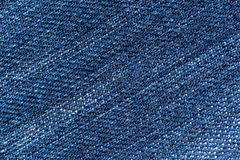 Fondo azul de la textura, fondo de los vaqueros del dril de algodón fotografía de archivo