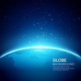 Fondo azul de la tierra del globo Ilustración del vector Imagenes de archivo