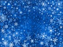 Fondo azul de la tormenta de la nieve Imagen de archivo libre de regalías