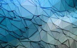 Fondo azul de las lentejuelas de la naturaleza 3D de la papiroflexia geométrica simple abstracta del tono Fotos de archivo