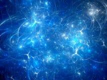 Fondo azul de las sinapsis que brilla intensamente Fotos de archivo