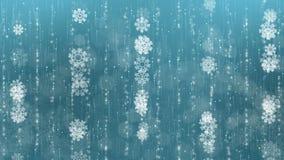 Fondo azul de los copos de nieve almacen de video
