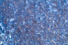 Fondo azul de los cristales Imagen de archivo libre de regalías