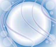Fondo azul de los remolinos de las burbujas stock de ilustración