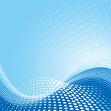 Fondo azul de modelo de onda Fotos de archivo libres de regalías
