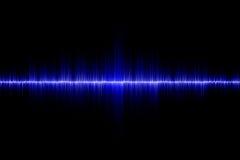 Fondo azul de onda acústica Foto de archivo