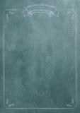 Fondo azul de papel en blanco de la textura con la frontera retra Fotografía de archivo
