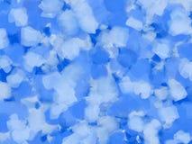 Fondo azul de pintura de petróleo Foto de archivo libre de regalías