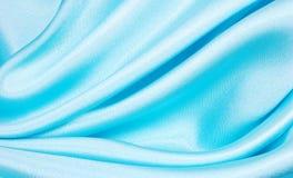 Fondo azul de seda Foto de archivo
