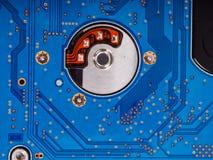 Fondo azul de tarjeta de circuitos Fotografía de archivo libre de regalías