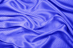 Fondo azul de tela de seda Imagen de archivo