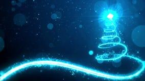 Fondo azul del árbol de navidad stock de ilustración