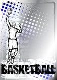 Fondo azul del baloncesto Imagenes de archivo