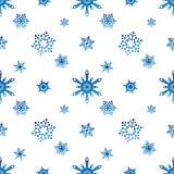Fondo azul del blanco del color de la pendiente del modelo del copo de nieve Imagen de archivo libre de regalías