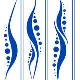 Fondo azul del blanco del modelo Foto de archivo libre de regalías