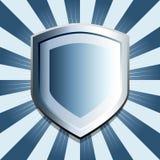 Fondo azul del blindaje Imágenes de archivo libres de regalías