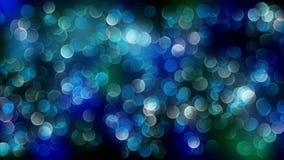 Fondo azul del bokeh creado por las luces de neón 4K almacen de video