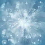Fondo azul del bokeh de la Navidad Imagen de archivo