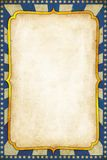 Fondo azul del cartel del circo del vintage con el marco de oro ilustración del vector