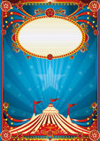 Fondo azul del circo Imagen de archivo