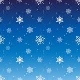 Fondo azul del color de la pendiente de la capa del tinte del modelo del copo de nieve Fotografía de archivo
