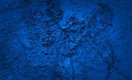 Fondo azul del color del cemento de la pared del cemento Fotografía de archivo