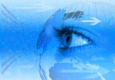 Fondo azul del concepto del Internet Imágenes de archivo libres de regalías