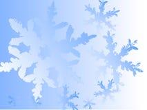 Fondo azul del copo de nieve Fotos de archivo libres de regalías