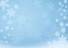 Fondo azul del copo de nieve Imagen de archivo libre de regalías