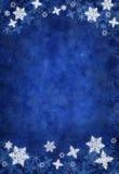 Fondo azul del copo de nieve de la Navidad Imagenes de archivo