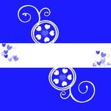 Fondo azul del copyspace de los corazones Foto de archivo libre de regalías