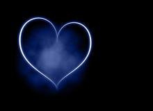 Fondo azul del corazón stock de ilustración