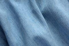 Fondo azul del dril de algodón Imagen de archivo