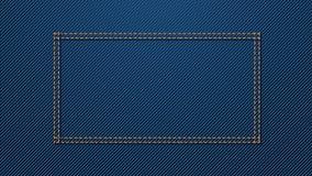 Fondo azul 02 del dril de algodón Fotografía de archivo libre de regalías