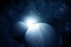 Fondo azul del espacio Foto de archivo libre de regalías