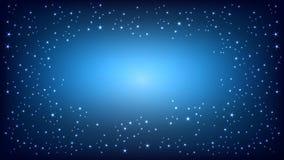 Fondo azul del espacio Ilustración del vector Foto de archivo