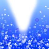 Fondo azul del extracto de la luz del bokeh Fotos de archivo