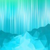 Fondo azul del extracto de la montaña Foto de archivo libre de regalías