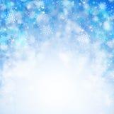 Fondo azul del extracto de la Navidad Fotos de archivo