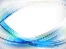 Fondo azul del extracto de la onda stock de ilustración