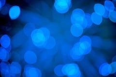 Fondo azul del extracto del bokeh Fotos de archivo libres de regalías